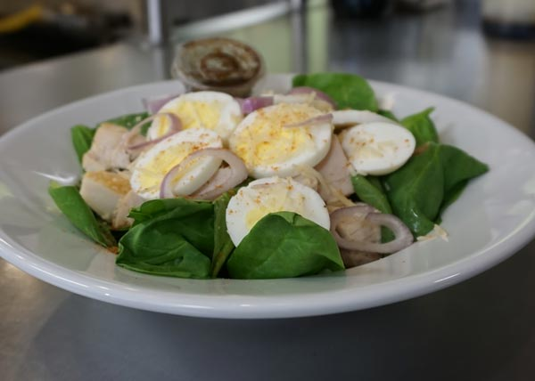 Egg & Spinach Salad