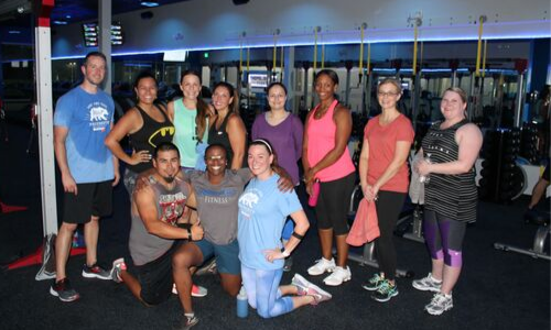 group after workout at inner element gym