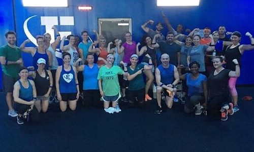 large group at Inner Element fitness and gym